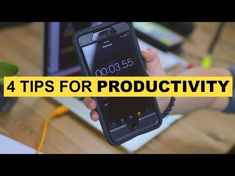 4 Tips For Productivity  [Phone and Computer]