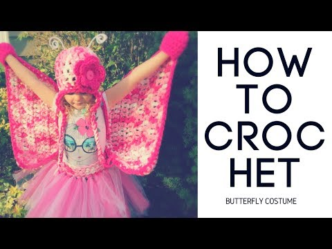 How to Crochet Butterfly Wings Costume