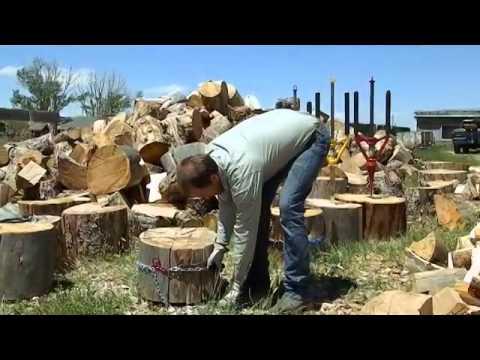 Splitz-All safer manual wood splitter - How to split firewood with safe log splitter Good N Usefull