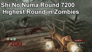 Zombies Shi No Numa World Record Round 7200 World at War - Highest Round in Zombies