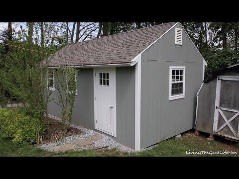 Finished DIY Build 12' x 24' Mega Shed Shack Tiny House Garage Part 3 - One Year Later