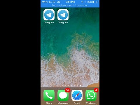 How to install 2 telegram apps on iphone without jailbreak..   latest 2018