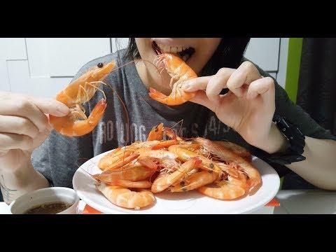 Big Ass Shrimps : ASMR / Mukbang | 白焯蝦