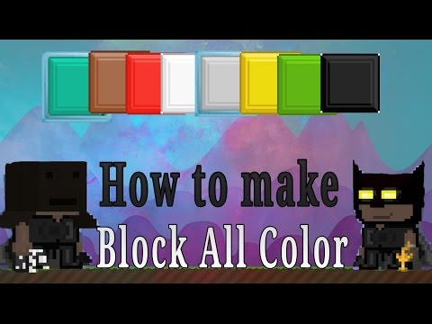 Growtopia : How to make Block All Color use with brick block seed
