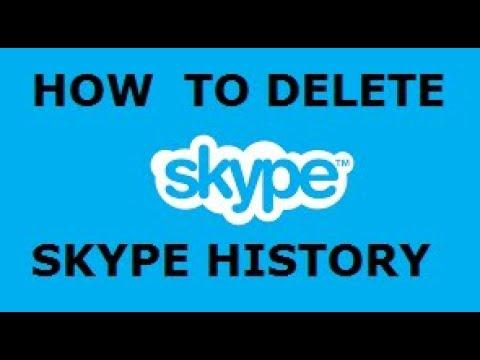 How To Delete Skype History