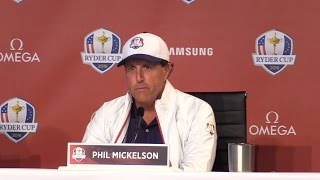 Press Conference With Phil Mickelson Ahead Of The 2016 Ryder Cup