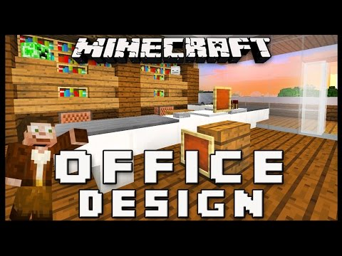 Minecraft: How To Make Furniture For An Office   (Modern House Build Ep. 15)