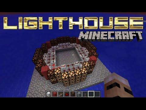 Minecraft Lighthouse With Rotating Light - Lighthouse Redstone Tutorial