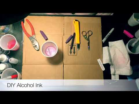 DIY Alcohol Ink using sharpies