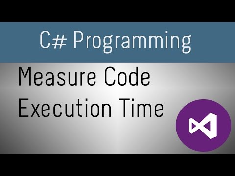 How to Measure Code Execution Time In C#
