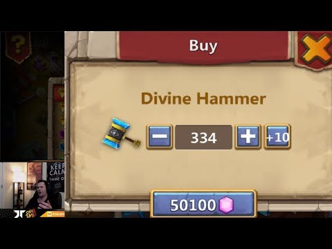 Rolling 100,000 Gems THUNDER GODS GIft Has The LUCK Changed Castle Clash