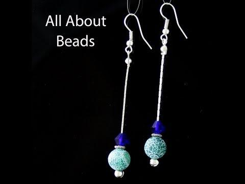 How to Make Beaded Earrings using Snake Chain