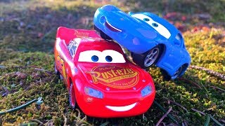 Disney Cars 3 NEW Toys Lightning McQueen & Sally Carrera FUN & GAMES UNBOXING Driving Kids Surprise