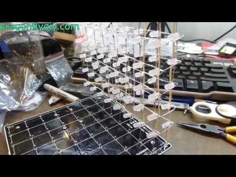 LED Cube Build Video -Banggood product 1091209