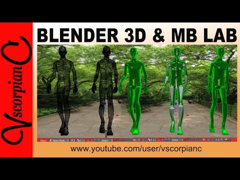 Blender 3D - ManuelBastioni Lab Character Add-0n v1.6 Animation Test by VscorpianC