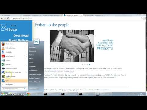 Installing Pyzo Python 3 distribution on Windows 7
