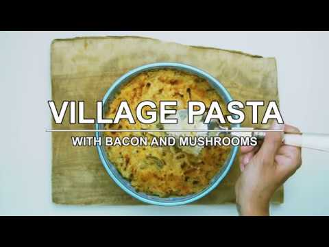 Village Pasta with Bacon and Mushrooms