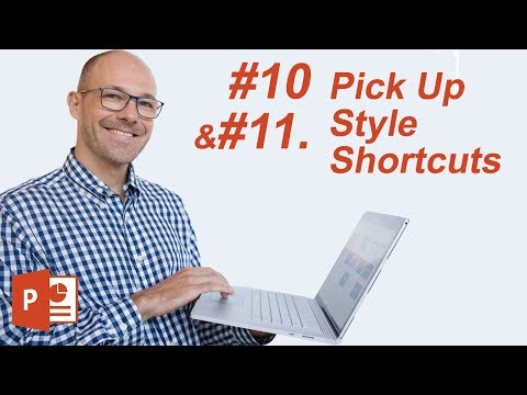 #10: Pick Up Style Shortcuts (Microsoft PowerPoint Shortcuts)