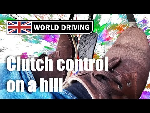 Clutch control on a hill - hill starts made easy in a manual/stick shift