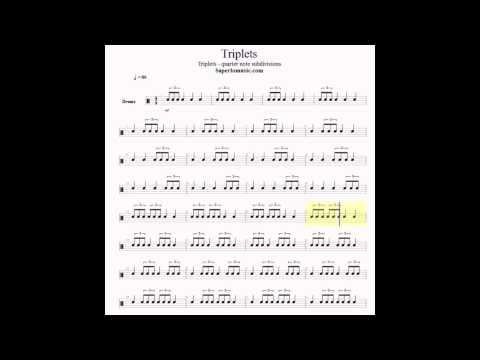 Triplets-eighth note subdivision for snare drum