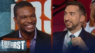 Chris Bosh talks playing with LeBron, best NBA duo, retirement and more | NBA | FIRST THINGS FIRST
