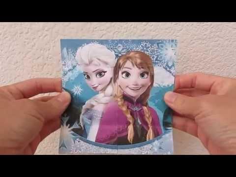 Frozen Elsa and Anna Never Ending Flip Card Paper Craft