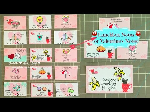 Lunchbox Notes or Valentine's Love Notes