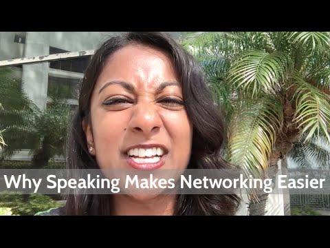 Why Public Speaking Makes Networking Easier | Poornima Vijayashanker