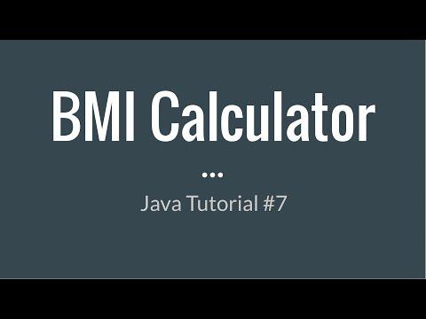 Java Beginner Tutorial #7 - Creating a BMI Calculator w/ User Input