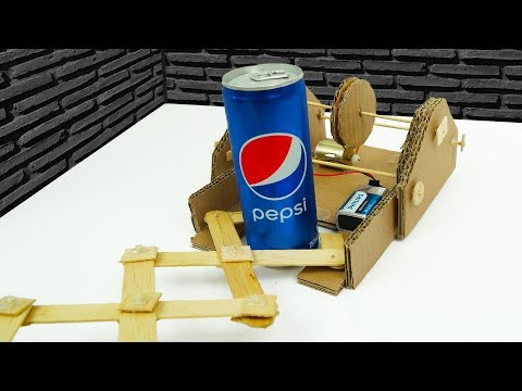 DIY How to Make Climbing Robot Car from Cardboard