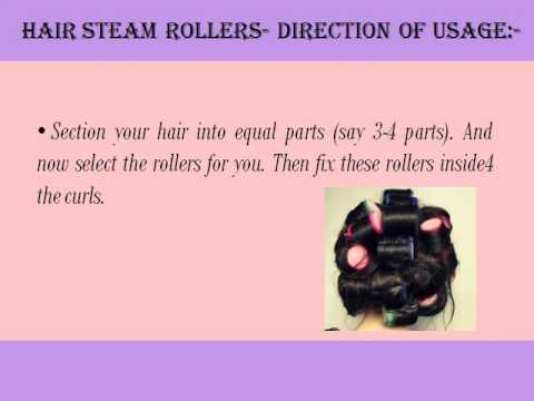 Curl Hair Using Steam Rollers At Home