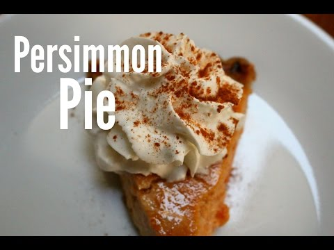 How to Make Persimmon Pie | rachel republic