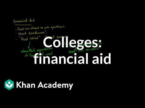Comparing colleges based on financial aid policies