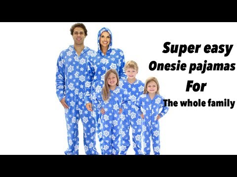 DIY// SUPER EASY ONESIE FOR THE WHOLE FAMILY// UNISEX ONESIE PAJAMAS DIY