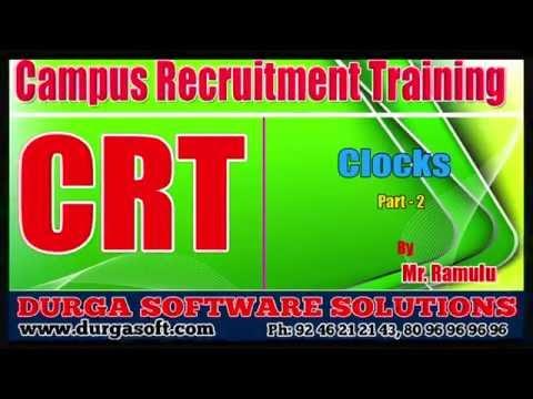 Campus Recruitment Training (CRT) ||Aptitude|| Clocks Part-2 by Ramulu