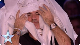 Marty Putz covers Simon Cowell in toilet roll! | Auditions Week 1 | Britain's Got Talent 2018