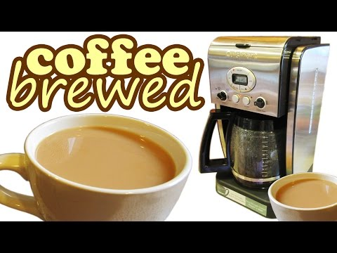 Cuisinart Coffee Maker Brewer - How To Brew Ground Beans Brewing Machine - Hot Drinks Brewers Makers