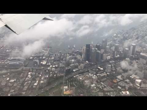 Seattle, Washington - Landing at Seattle Tacoma SEATAC International Airport HD (2017)