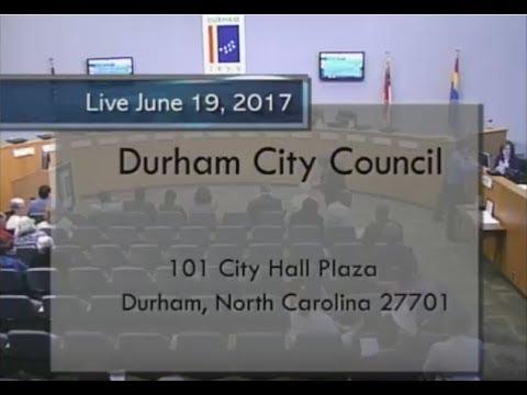 Durham City Council June 19, 2017