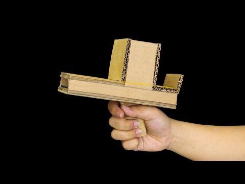 How to make cardboard gun - 2 Simple gun ideas