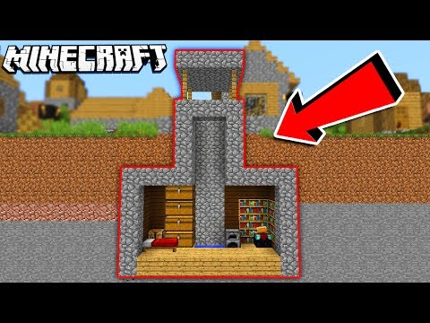 HIDDEN House Inside a WELL in Minecraft!