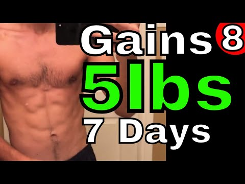 Gained 5lbs in 7 Days (Still Lean)