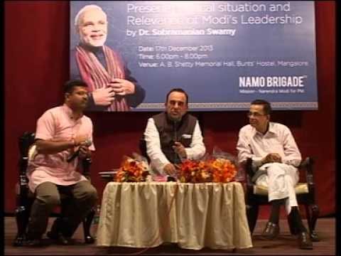 Lecture by Dr. Subramanyam Swami Namo Brigade Part-2