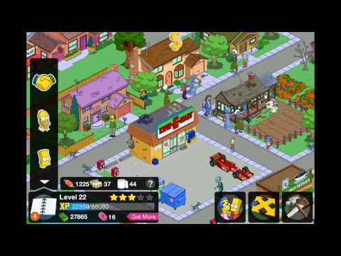 Simpsons - Tapped Out - Cheat - Get fast easy cash / xp on your iPhone/iPad devices