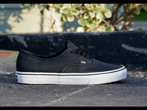 a097d3bc2a56 90 Seconds Review or Less  Vans New Era Italian Leather Black