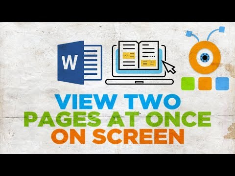 How to View Two Pages at Once on Screen in Word 2019