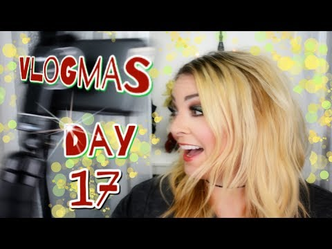 Vlogmas 2017 Day 17 - Butternut Squash Mac & Cheese, Glitter Eyeshadow And Eyelashes!