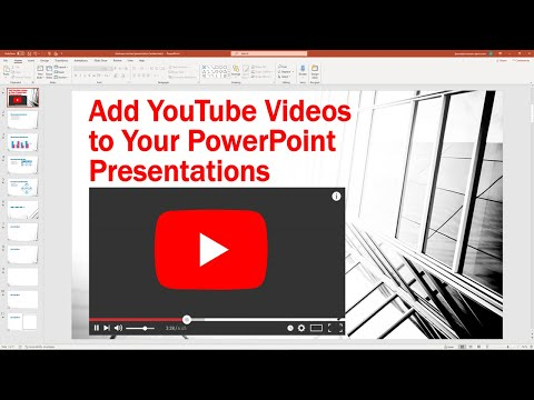 Insert a YouTube Video Into a PowerPoint Presentation