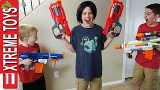 Evil Ethan Clone Nerf Battle! Bad Copy From the Clone Machine Attacks Cole With Nerf Blasters!