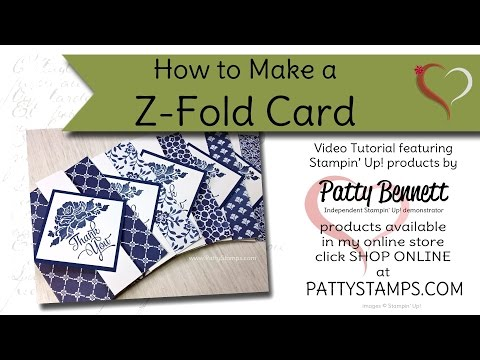 How to Make a Z Fold Card with Stampin' UP! Supplies